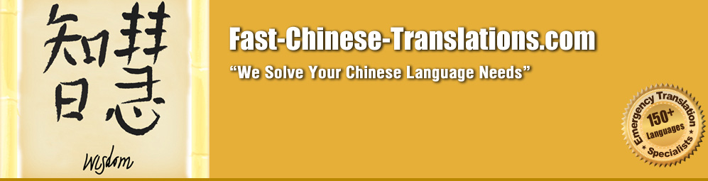 Fast Chinese Translations